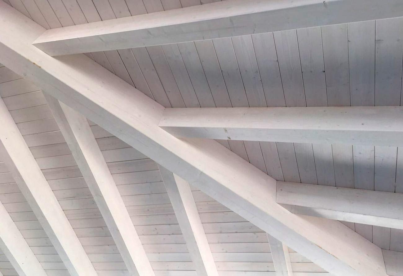 Tetti in legno with tetto in legno bianco - Tetto in legno bianco ...